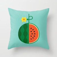 Fruit: Watermelon Throw Pillow by Christopher Dina