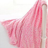 Pine Cone Hill Sheepy Fleece Leopard Peony Throw Blanket $38.00