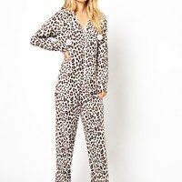 New Look Animal Fleece Onesuit