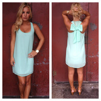 Mint T-Back Bow Dress