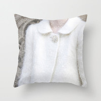 Velveteen Pillow - New York City Home Decor - Vintage Inspired - New York Decor - Fashion Photography - Retro - Snow - Winter