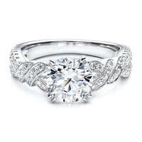 Engagement Ring - Braided Engagement Ring 0.35 tcw. In 14K White Gold - ES770BR