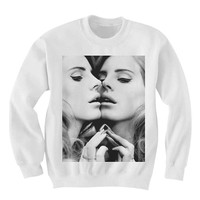 Lana Del Rey SWEATSHIRT Sweater Shirt- Hipster Clothes Sweatshirt Sweater - Oversized Sweatshirt Sweater - FAN0017 Lana In the Mirror