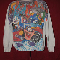 Amazing Tiny Toons City Slickers 1993 Soft Sweatshirt 50/50 Blend - XL