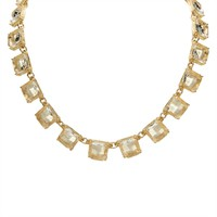 Troy Designs Juniors Faceted Square Stone Link Necklace at Von Maur