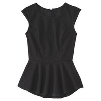 Xhilaration® Juniors Open Back Peplum Top - Assorted Colors