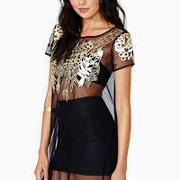 Nasty Gal I Wanna Be Adorned Mesh Dress