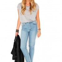 Missguided - Dolima Mom Style Jeans In Light Blue