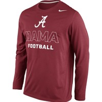 Nike Men's Alabama Crimson Tide Crimson Practice Conference Legend Long Sleeve Shirt
