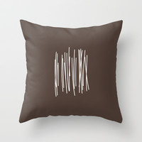 Wood in Brown - Minimalist Feng Shui - by Friztin Throw Pillow by friztin