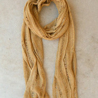 Golden Lurex Knit Scarf [4731] - $10.00 : Vintage Inspired Clothing & Affordable Dresses, deloom | Modern. Vintage. Crafted.