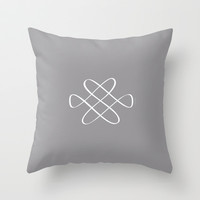 Infinity Knot - Minimalist Feng Shui - by Friztin Throw Pillow by friztin