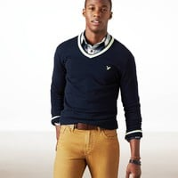 AE TIPPED V-NECK SWEATER