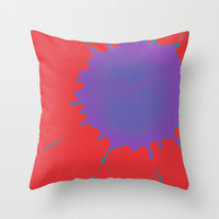 Splat on Red - by Friztin Throw Pillow by friztin