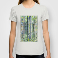 SERENE GREEN SCENE T-shirt by catspaws