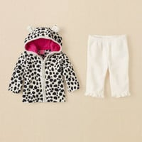 newborn - girls - dalmatian glacier fleece set | Children's Clothing | Kids Clothes | The Children's Place