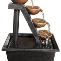 Alpine WCT324 Tabletop Fountain, 4-Tier, Polyresin, 8-In.