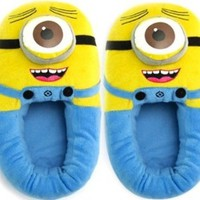 Easy Lover Great Chirstmas Gift:Despicable Me Plush Soft Minion Shoes XHR7 (One-eyed(Bigmouth), Length of the slippers:29CM (11.5 inch))