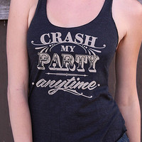 Luke Bryan inspired Crash my Party Racerback Tank Top | Country Music