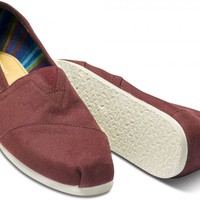 Burgundy Men's Canvas Classics