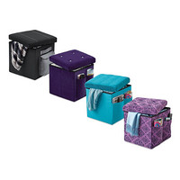 Sit and Store Folding Storage Ottoman