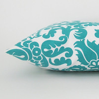 Teal Pillow Covers Throw Pillows Lumbar Decorative 12x16 Home decor