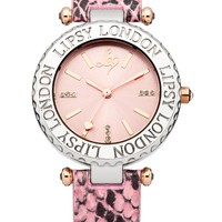 Lipsy Pink Snake Round Face Watch
