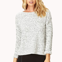 Throw-On Contrast Sweater