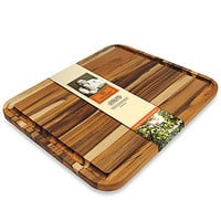 Mario Batali by Dansk™ Plantation Teak Carving Board in 15-Inch x 17 3/4-Inch x 3/4-Inch