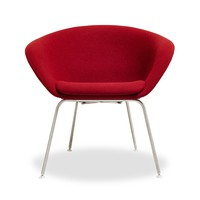 Arper Red Duna Lounge Chair