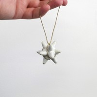 Hanging Ceramic Star Ornament