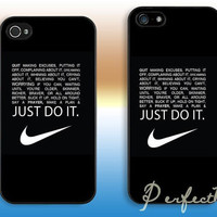 Just do it---iphone 4 case iphone 4S case iphone 5 case iphone 5c case iphone 5s case Hard plastic iphone cover iphone case