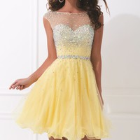 Embellished Mesh Dress by Tony Bowls Shorts