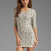 Lovers + Friends Sway Back Dress in Cream Lace