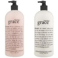 philosophy super-size fragrance 3-in-1 gel & body lotion duo — QVC.com