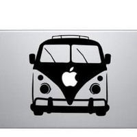 VW Bus MacBook Laptop Decal Sticker by graefik on Etsy