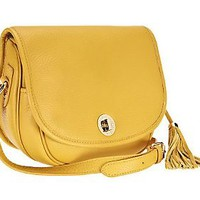 Isaac Mizrahi Live! Bridgehampton Pebble Leather Crossbody — QVC.com