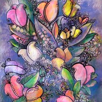 Bouquet Releaf Digital Art by Sandy Moulder - Bouquet Releaf Fine Art Prints and Posters for Sale