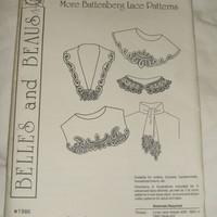 Belles and Beaus Circa 1916 More Battenberg Lace Collar Trim Sewing Stitching Patterns