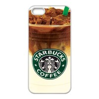 Starbucks Coffee Logo Ice Coffee Lifestyle Unique Durable TPU Rubber Case Cover for Apple Iphone 5 Custom Design Fashion DIY