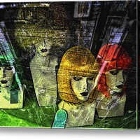 Heads For Sale Acrylic Print By Sandy Moulder