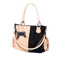 Charming Brilliant Mixing Color Bowknot Handbag