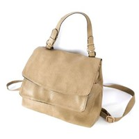 Leisure Retro Solid Color Multi-function Handbag Shoulder Bag