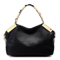 Diamond Check Emboss Handbag Shoulder Bag
