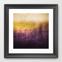 Purple rain Framed Art Print by SensualPatterns
