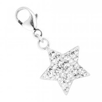 Simply Silver Pave crystal sterling silver star charm - Simply Silver from Jon Richard UK