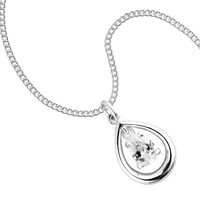 Simply Dinny by Dinny Hall Peardrop and cubic zirconia sterling silver pendant necklace - Simply Dinny By Dinny Hall from Jon Richard UK