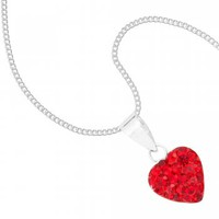 Simply Silver Pave crystal sterling silver heart pendant - Simply Silver from Jon Richard UK