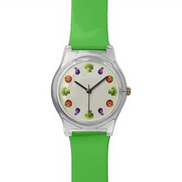 Green Funny Vegetables Wrist Watch