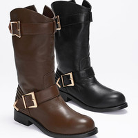 Double-buckle Moto Boot - VS Collection - Victoria's Secret